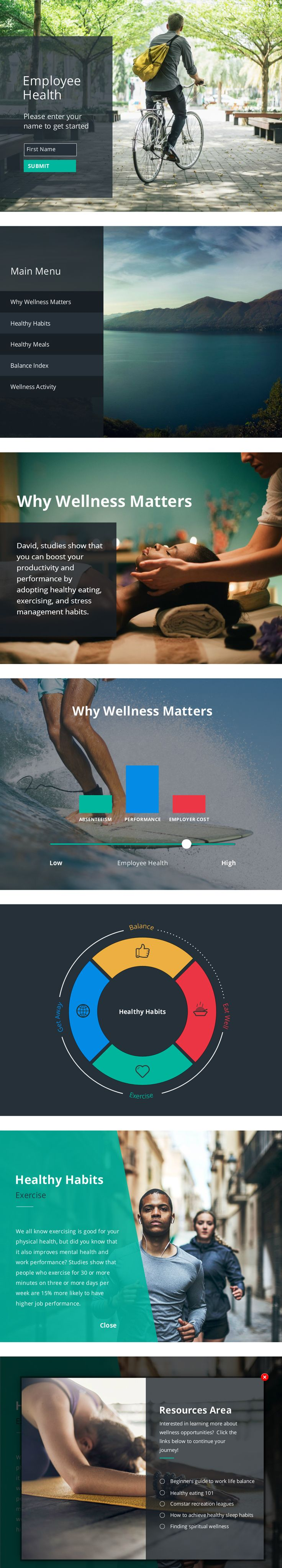 Comstar Employee Wellness - Articulate Storyline 2 #Elearning Demo