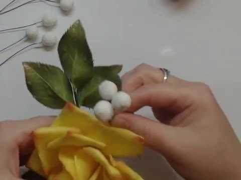 Фоамиран Мастер класс Снежные ягодки шарики