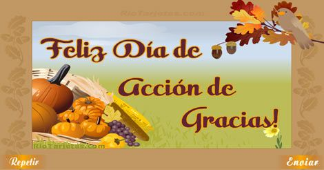 Tarjetas de Thanksgiving, Día de Acción de Gracias Rio Tarjetas 2015