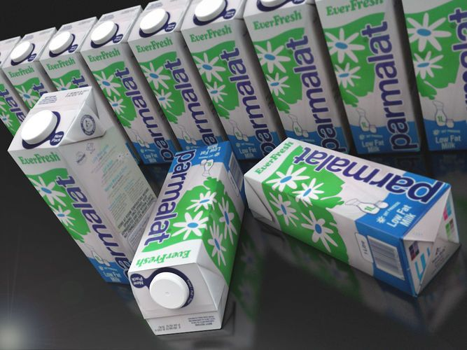 milk or juice carton textured as milk pack | 3D Model