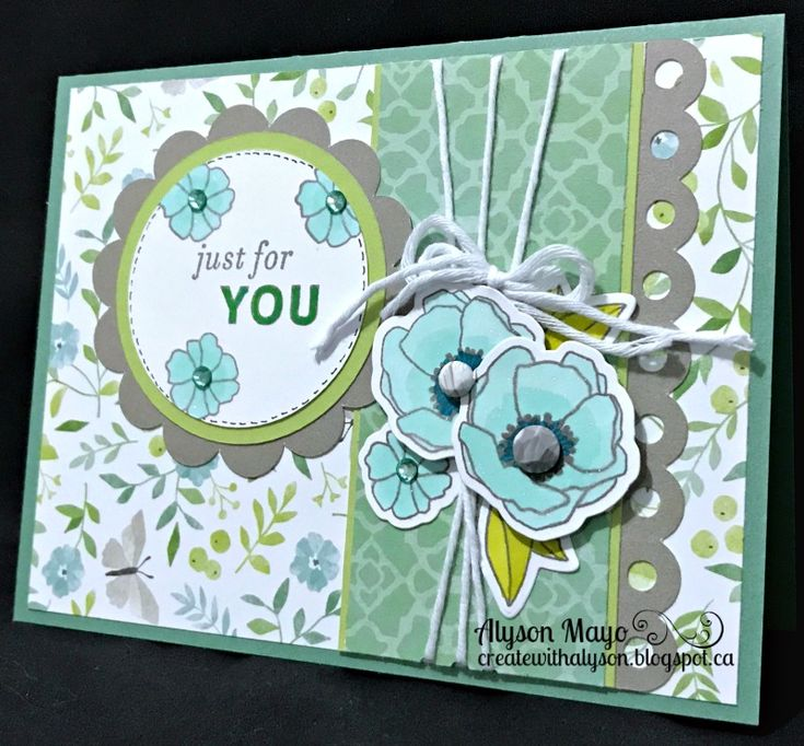 Just for You flower card
