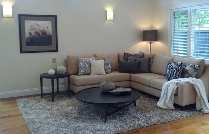 Neutral living room, sophisticated and oh so comfy.