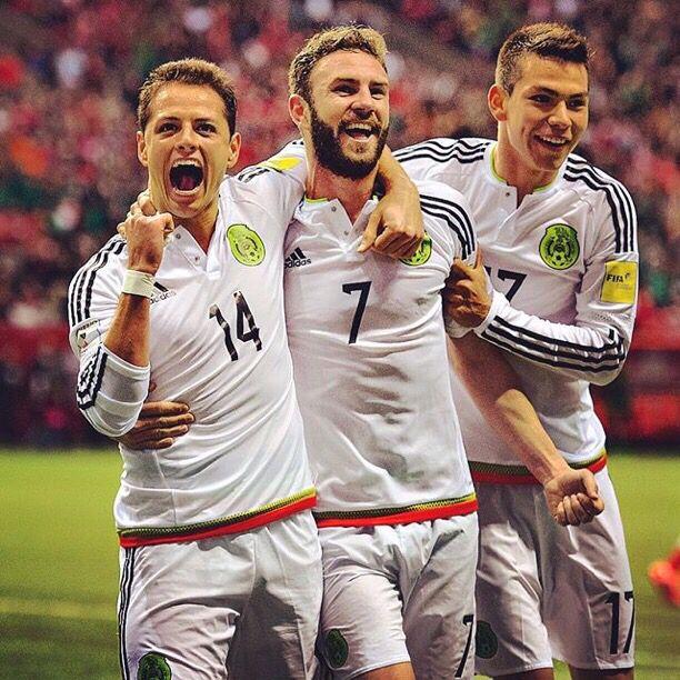 Chicharito, Miguel Layun & Hirving Lozano