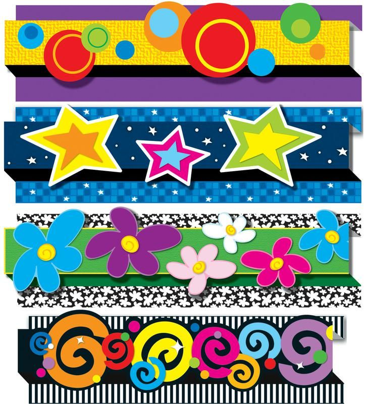Clipart Decoration Classroom ~ Pack of pop its decorative designs bulletin board border