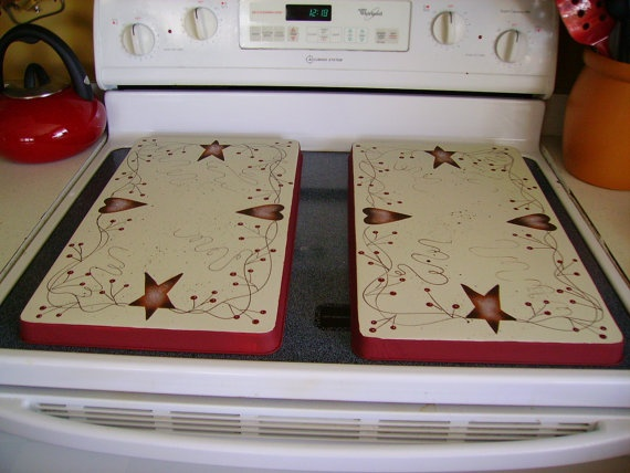 Primitive Country Rusty Tin Stars Hearts Stove by MyAdelinesPlace, $24.99