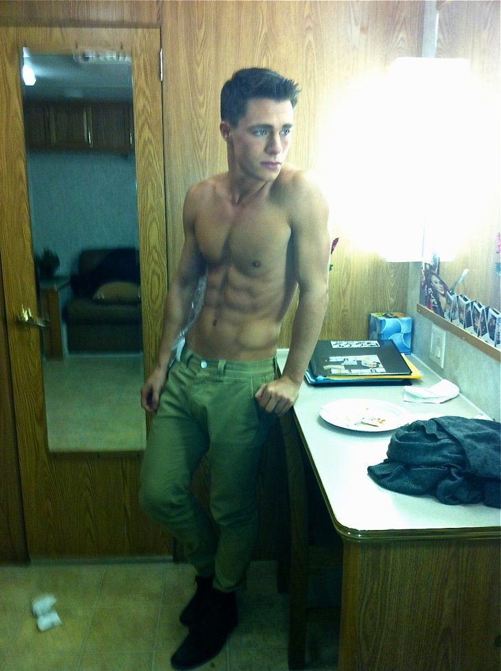 Pin for Later: 39 Photos of Colton Haynes's Shirtless Body That Will Make You Beg For Mercy This Casual Candid Trailer Shot