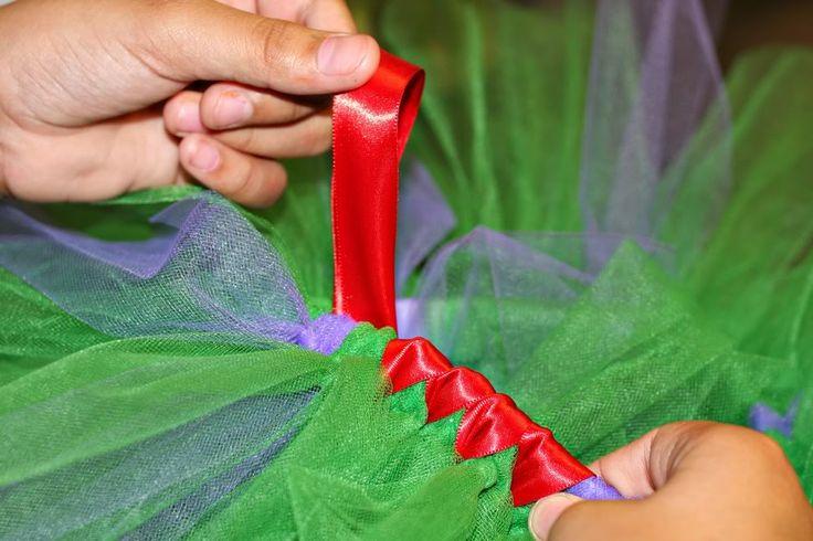 How to satin wrap a tutu.
