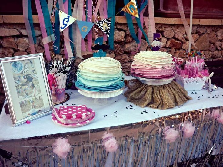 Loving The Cakes At This Mustache And Tutu Birthday Party See More Ideas