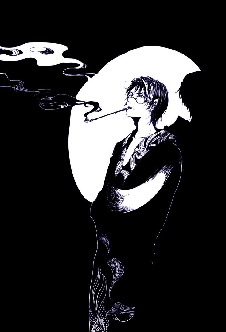 Bwatermark, xxxHOLiC, Watanuki Kimihiro, Smoke, Shadow