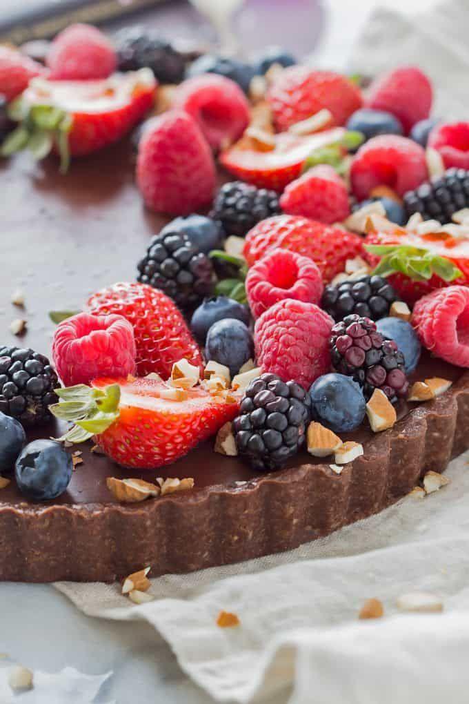 No Bake Chocolate Tart Vegan Gluten Free Tart Recipes Raw