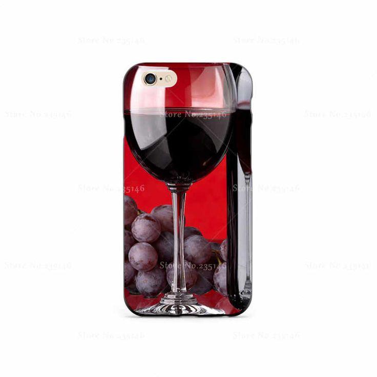 Скачать Красный Бутылки Вина Пластиковый Защитный Shell Кожа Сумка для iPhone4s 5S 5c 6 плюс 6 Splus 5.5 Случаи Жесткий Назад крышка