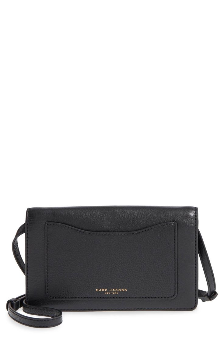 Main Image - MARC JACOBS 'Recruit' Pebbled Leather Crossbody Wallet