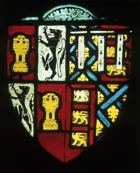 Panel  Place of origin: England, Great Britain (made)  Date: 1376-1393 (made)  Artist/Maker: Unknown (production)  Materials and Techniques: Clear, flashed and coloured glass (potmetal), painted with brown enamel and yellow stain
