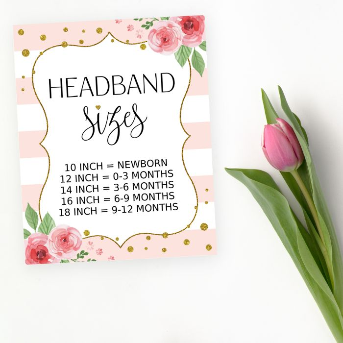 Headband making station is a great baby shower activity. Set it up and invite your guests to be crafty (and to have fun)! #printable #babyshower #babyshowergames #babyshoweractivity #SHdesigns