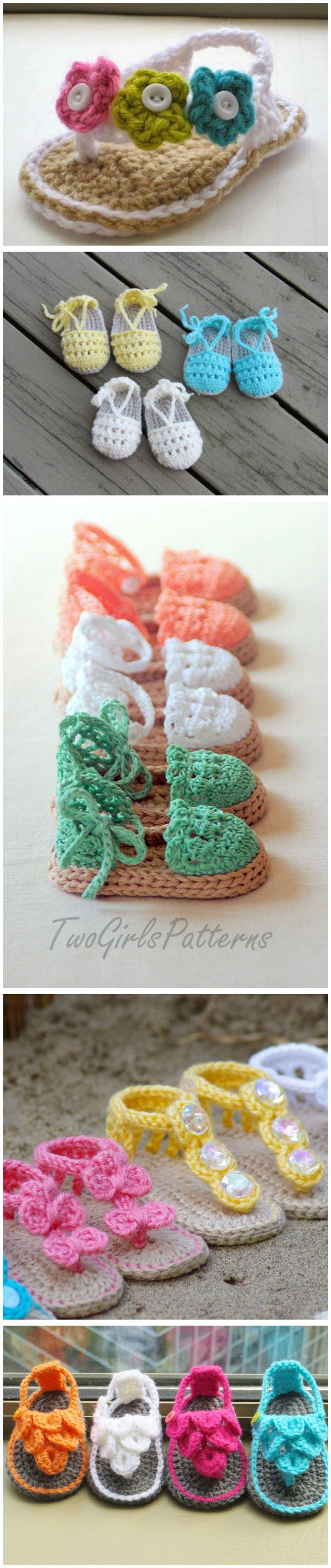 Crochet Baby Flip Flop Sandals with Patterns -