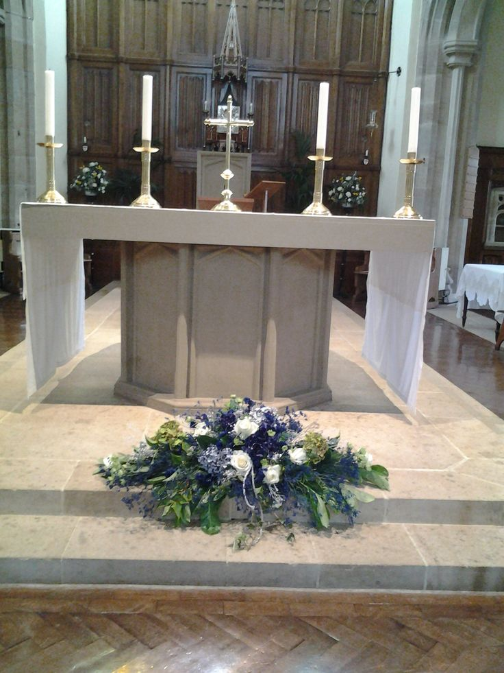 Altar flowers  by Cathey's flowers