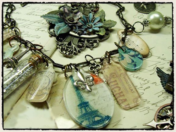 Tim Holtz fragment charms: Holtz Fragments, Necklace Charm, Transparent Illusions, Tim Holtz, Altered Art, Holtz Inspiration