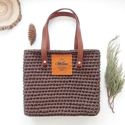 Pletená taška lemované