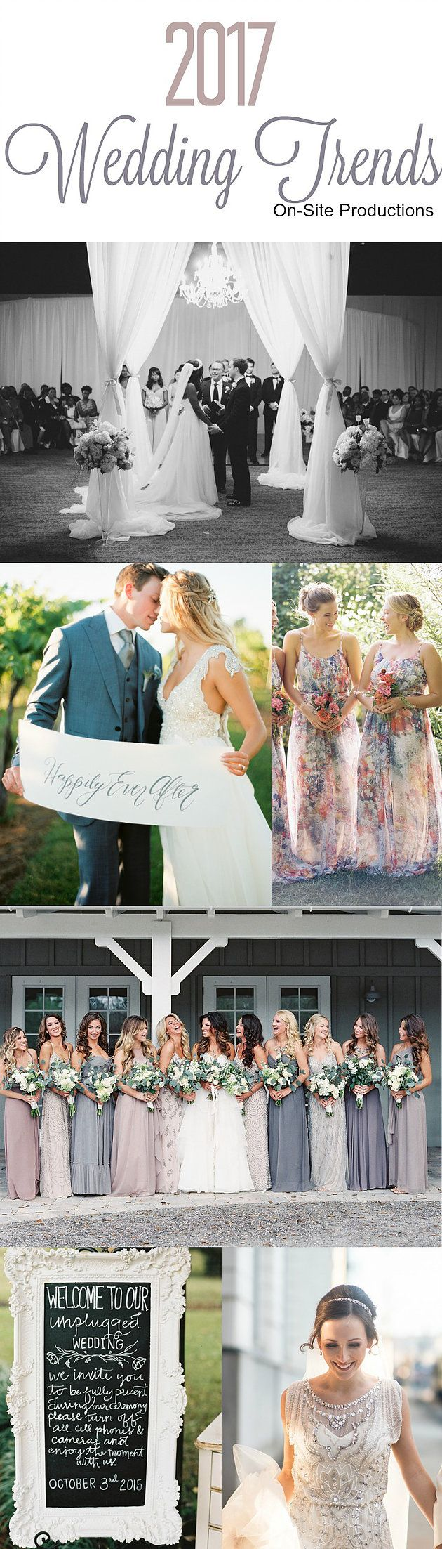 It may still be 2016, but if you're getting married next year, you alreadyhave 2017 on the mind already!I love the trends for 2017 weddings!
