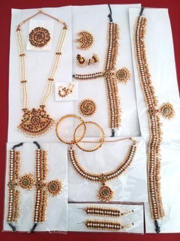 f9fe6e1b0f Indian Classical Dance Jewellery Set   Bharatanatyam Dance Jewellery ...