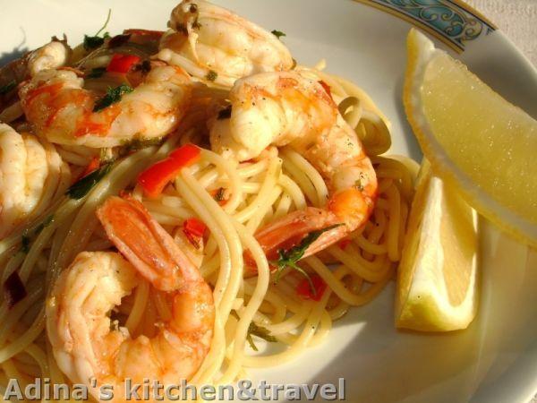 Rețetă Spaghete cu creveti, de Toamna07 - Petitchef