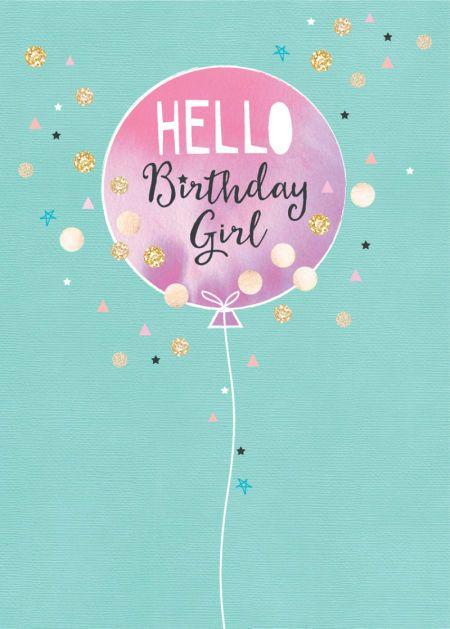 Debbie Edwards - Female Birthday Contemporary Range Confetti Balloon LR