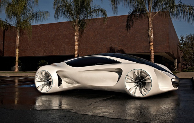 Mercedes-Benz Biome concept is still very much on the drawing board, mainly because the technology and know-how to produce it still haven't been invented. The Mercedes-Benz Biome's basic building material, BioFibre, a substance lighter than plastic or metal but stronger than steel, would be custom grown in laboratories by mixing a genetic code with a seed capsule (or something like that). The car would, in effect, power itself using sunlight, and be 100...