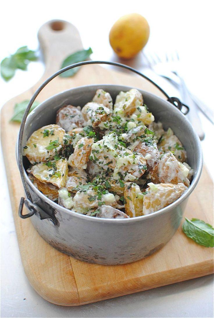 Lemony Roasted Potato Salad   Bev Cooks