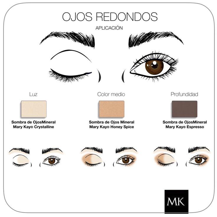 Makeup Ojos redondos #MaryKay   www.marykay.es/mariaroda                                                                                                                                                      Más
