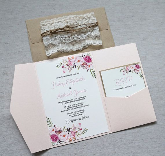 Floral Invitations, Lace Wedding Invitation, Boho Wedding Invitations, Elegant Wedding Invitations, Watercolour Wedding Invites, Boho, The perfect