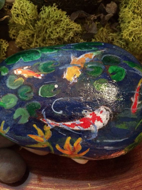 17 best images about painted rocks on pinterest pebble for Koi fish pond rocks