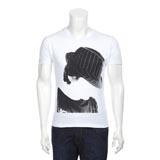 White Trilby Hat Print T-Shirt