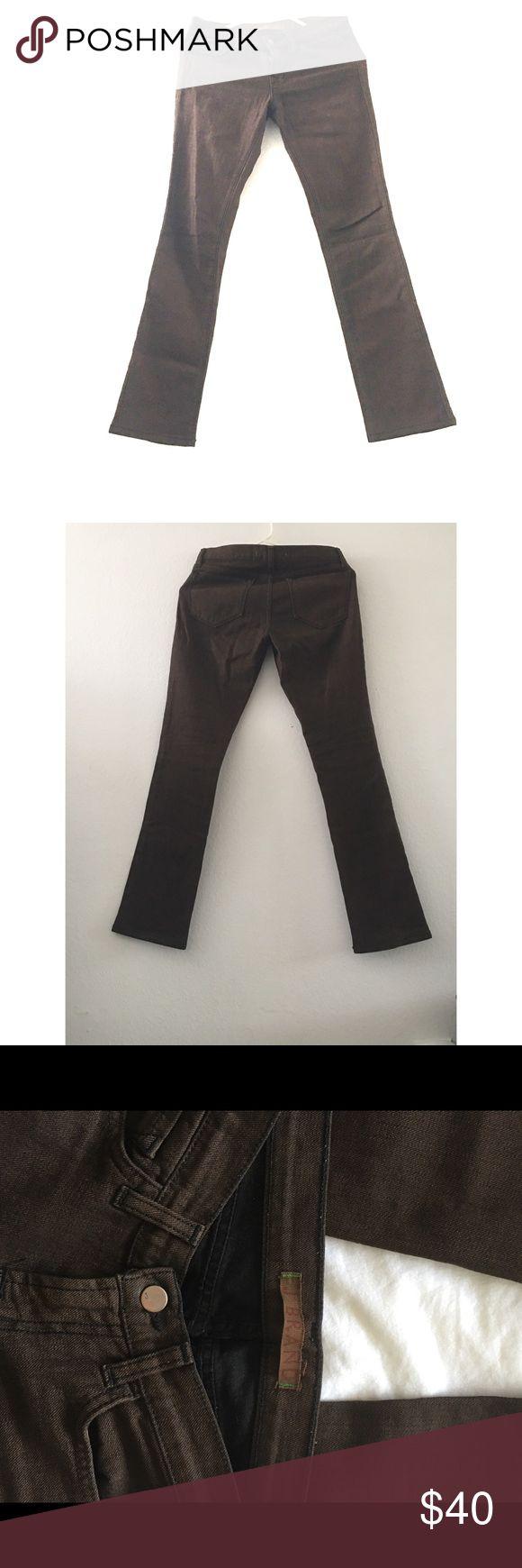 J Brand Dark Brown Skinny Jeans Dark brown skinny jeans- J Brand. Size 25 99%cotton 1%spandex, skinny jean, almost new J Brand Jeans Boot Cut