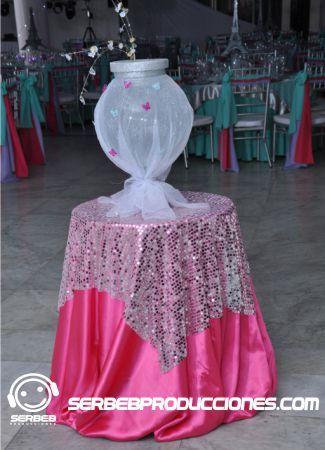 Baúl de Sobres de Cristal para fiestas de 15 años