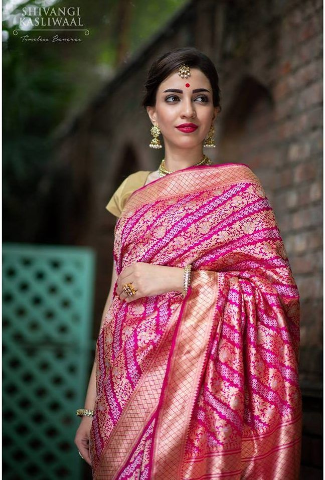a7dc3e13fb New Wedding Banarasi Silk Sarees Collection by Shivangi Kasliwaal ...