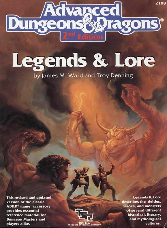 Legends & Lore (2e) - Dungeons & Dragons | Dungeons and Dragons | D&D | DND | AD&D | 2nd Ed. | 2e | 2.0