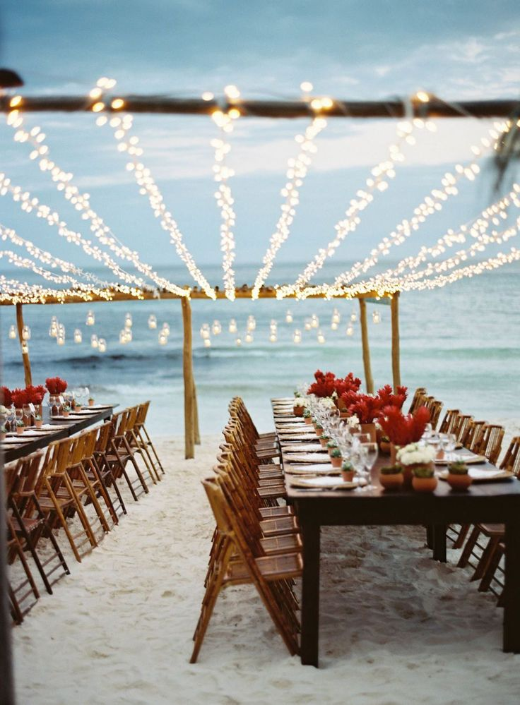 beach wedding south west uk%0A    Gorgeous Beach Weddings to Give You MAJOR Wanderlust Keep it simple for  your beach wedding reception with minimalist flower arrangements   fun  string