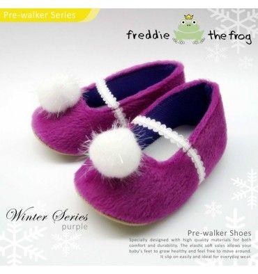 Freddie the Frog Prewalker Shoes - Winter Series Purple - sadinashop.com  Sepatu Bayi Lucu