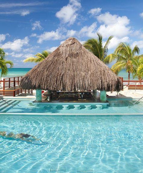 Swim-up Pool Bar - Couples Swept Away, Negril, Jamaica www.sunset-escapes.com
