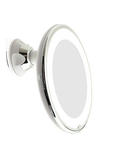 JiBen LED Lighted 10X Magnifying Makeup Mirror with Power - http://freebiefresh.com/jiben-led-lighted-10x-magnifying-makeup-review/