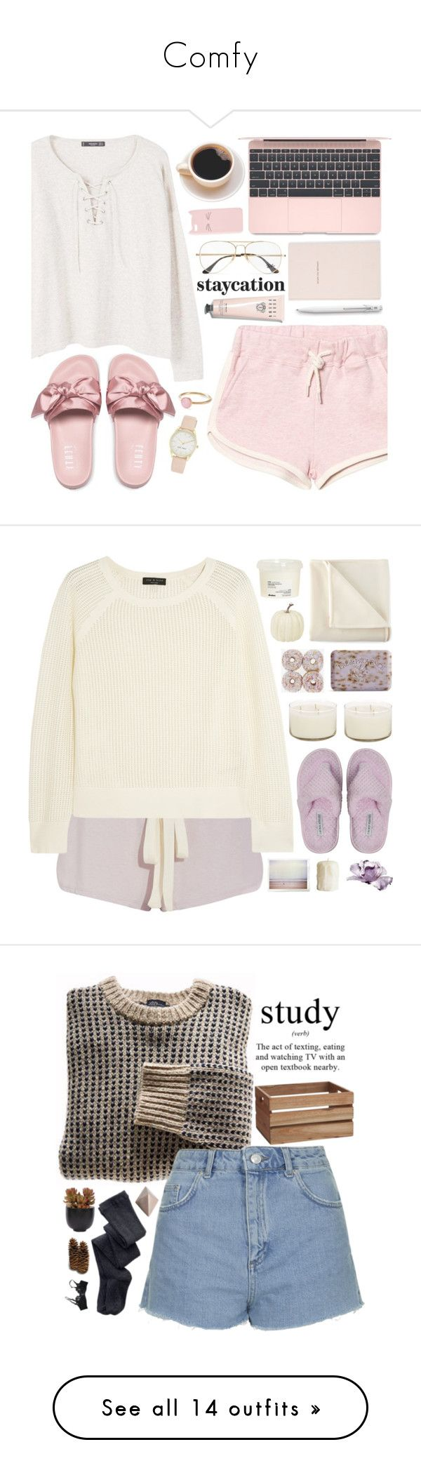 """Comfy"" by cherrysnoww ❤ liked on Polyvore featuring MANGO, Ray-Ban, Kate Spade, Bobbi Brown Cosmetics, Caran d'Ache, Charlotte Russe, Puma, Nine West, Pernille Corydon and Summer"