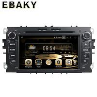 1024*600 16G 7Inch Pure Android 5.1.1 Car Radio for Ford Focus 2008-2011 for Ford Mondeo 2008-2011 /S-MAX /Connect Black DVD