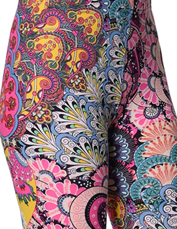 3b4470d76ae0d VIV Collection Printed Brushed Leggings (Dreamy Uprising) at Amazon Women's  Clothing store: