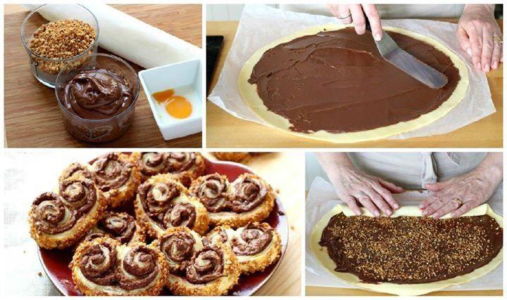 Nutella-Blätterteigschnecken - so geht's