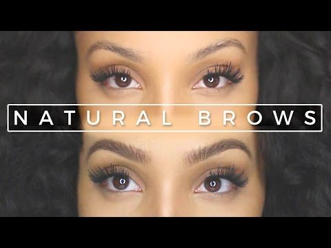 How to Get Perfect, Natural-looking Eyebrows with Makeup - YouTube