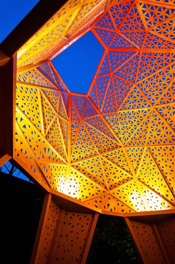 Galeria - Arquitetura e Paisagem: Pavilhões de metal perfurado se elevam no parque, por Martha Schwartz - 7