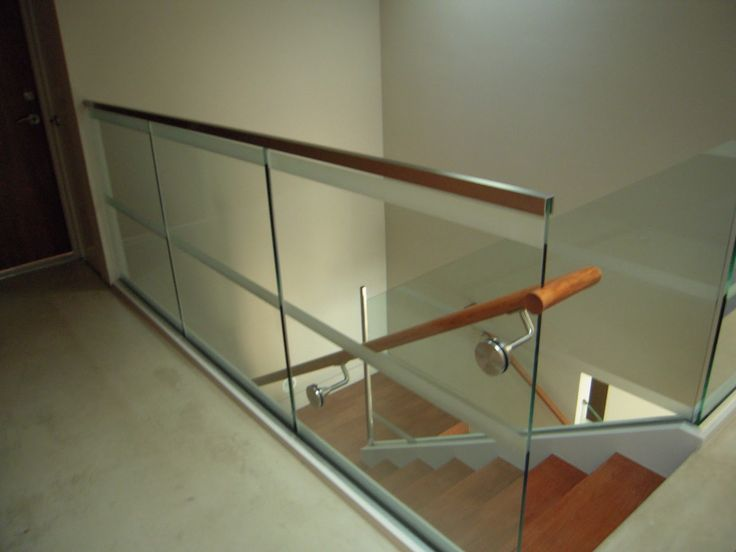 Glass Stair Rail With Glass Mount Railing Hardware   OT Glass