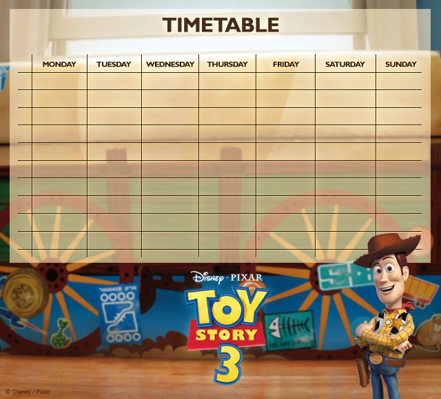 Toy Story Timetables 03