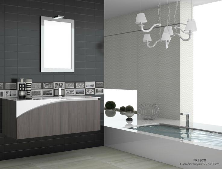 Απολαύστε την απόλυτη γοητεία του #BlackandWhite στο #classy μπάνιο «Fresco» νιώθοντας την μέγιστη αρμονία! www.porcelana.gr