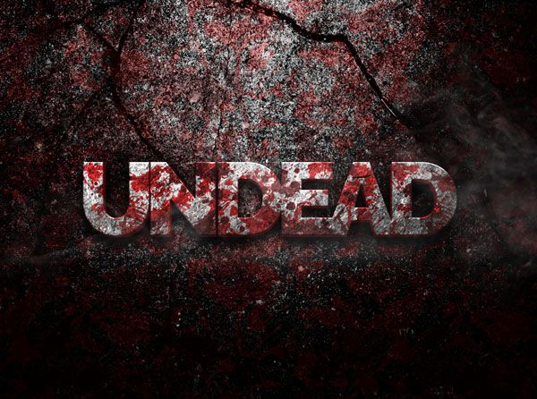 Undead 3D PSD Text Effect - Free designs
